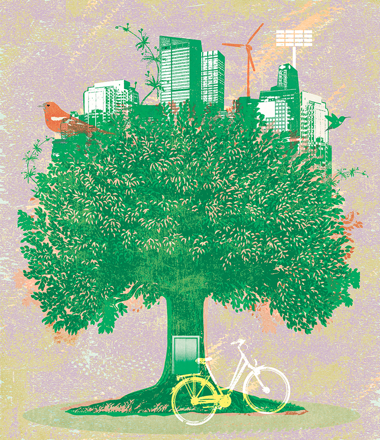 Illustration: an idealised green city