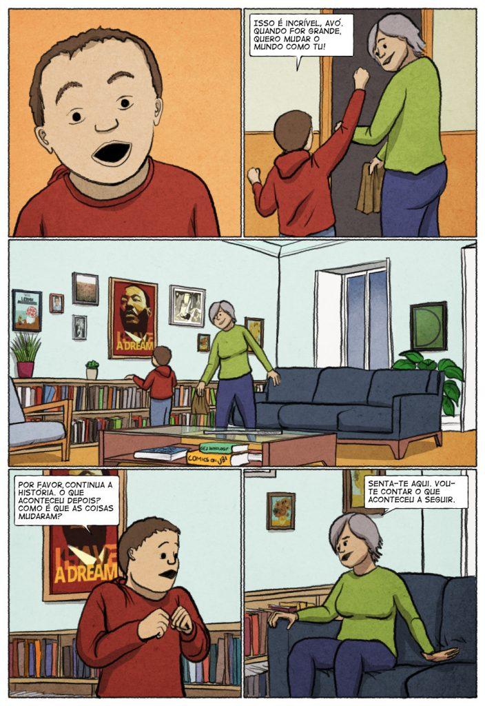 Uma história em quadrinhos de Jorge Pinto e Eduardo Viana. (página 7 de 10)