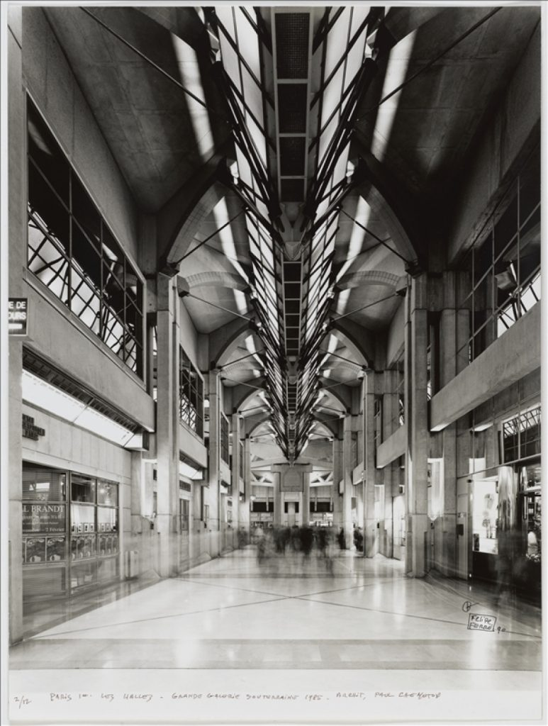 Forum des Halles underground shopping centre, 1985.
