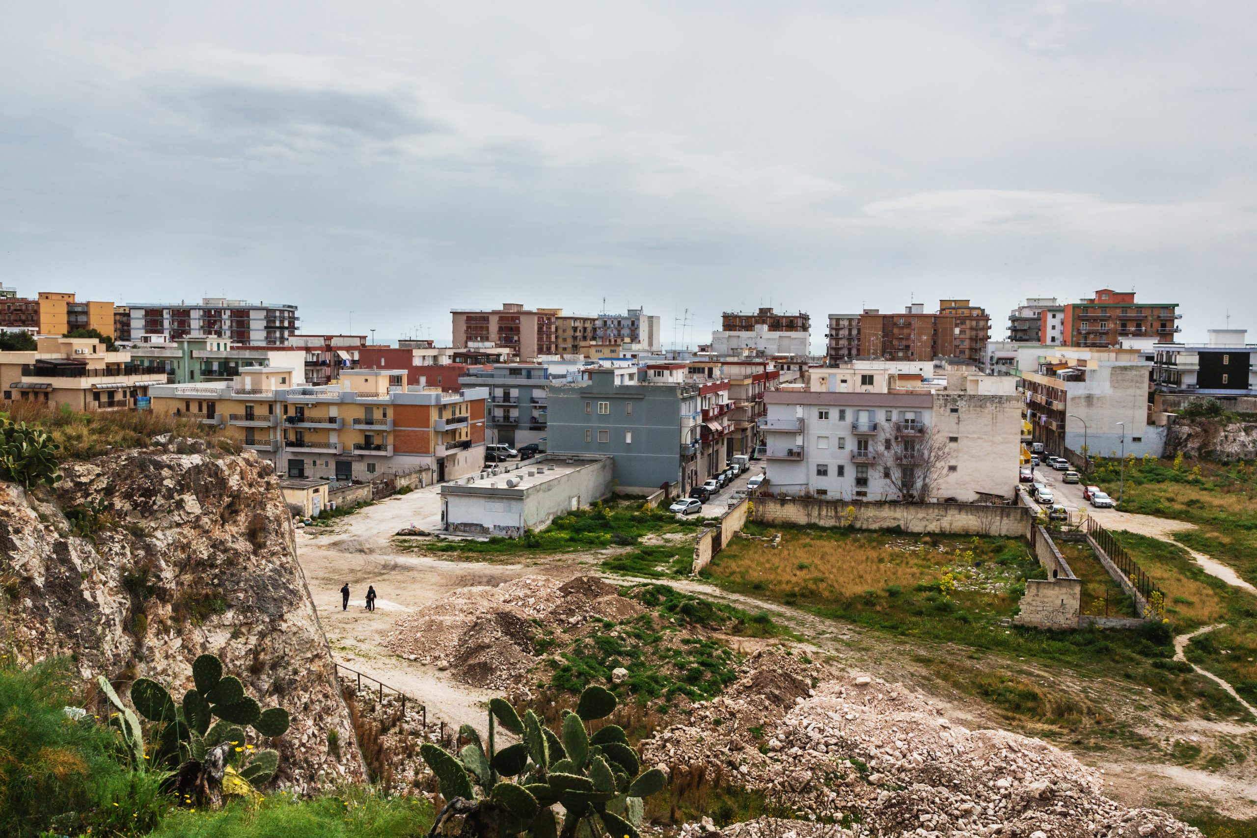 View of the Cava Gramazio district, built on the former quarry of the same name.